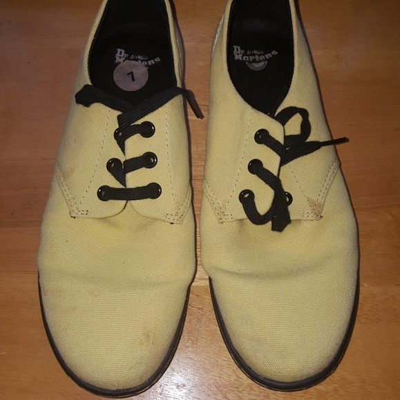 Dr. Martens Shoes - Yellow Dr. Marrteen Shoes